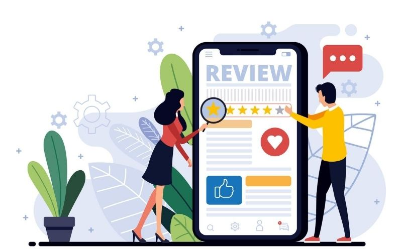 Request your customers for reviews