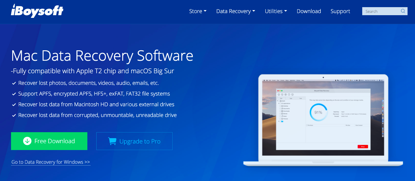 Recover Data from T2 Secured Macs Using iBoysoft Data Recovery for Mac